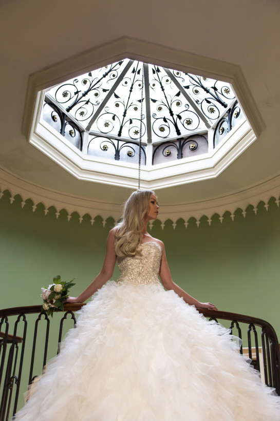 The skylight on the upper landing provides wonderful natural light and is another area that is great for wedding photographs.