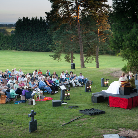 Heartbreak Productions's performance of Dracula in the gardens at Burton Court