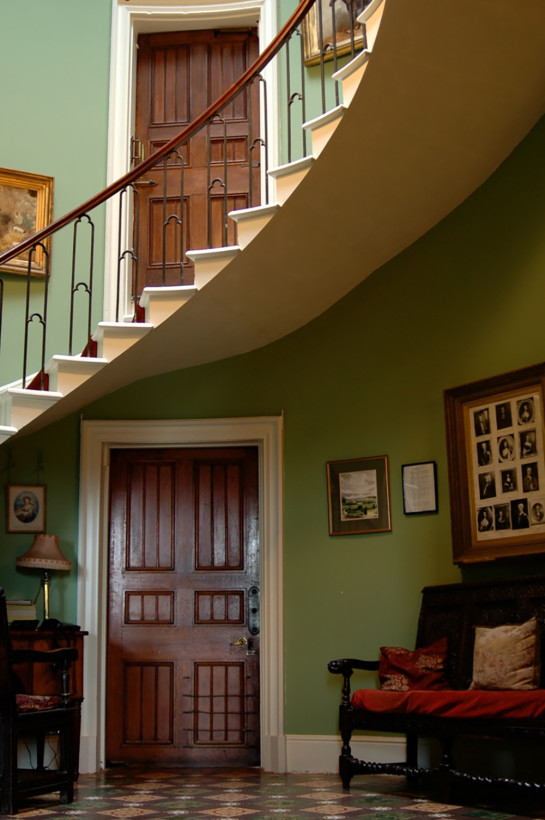 The cantilevered staircase is one of the areas that is explained in more detail during a guided tour of Burton Court