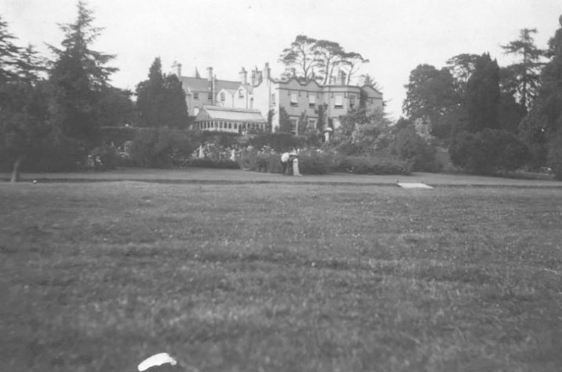 Burton Court use to be painted in white during the Edwardian period