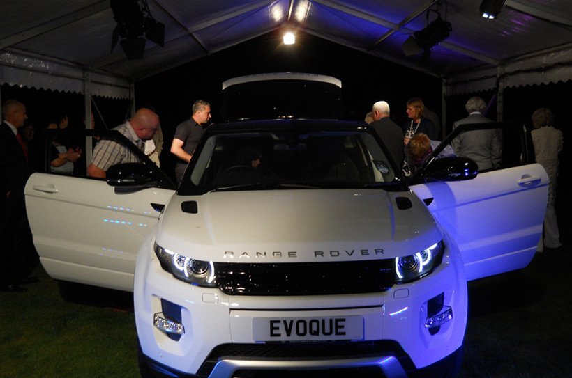 Range Rover Evoque car launch at Burton Court in Herefordshire