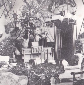 The Great Hall in 1904. The Clowes family were great collectors of taxidermy