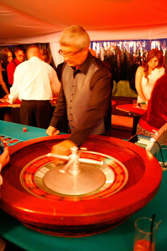 A casino at a corporate event