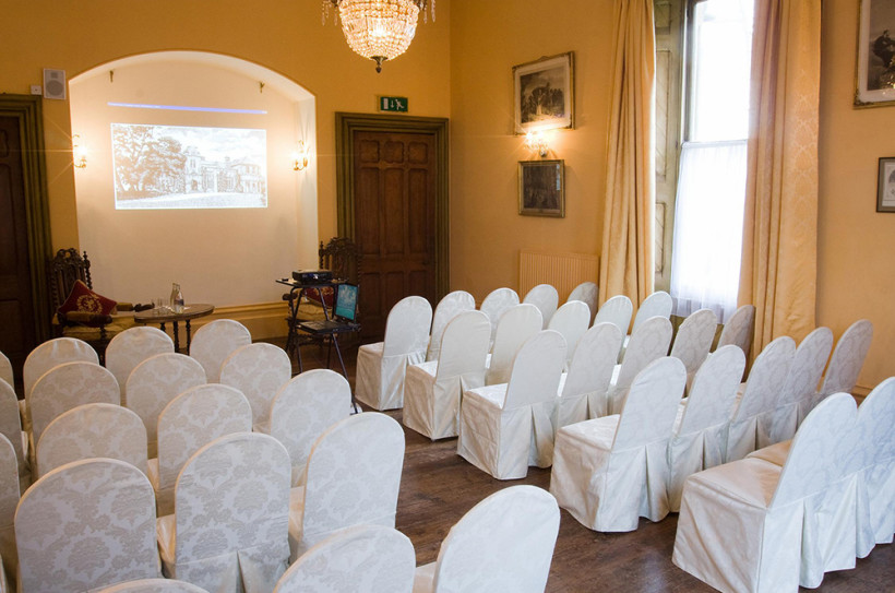 Theatre Style Set Up for a conference in the Regency Room