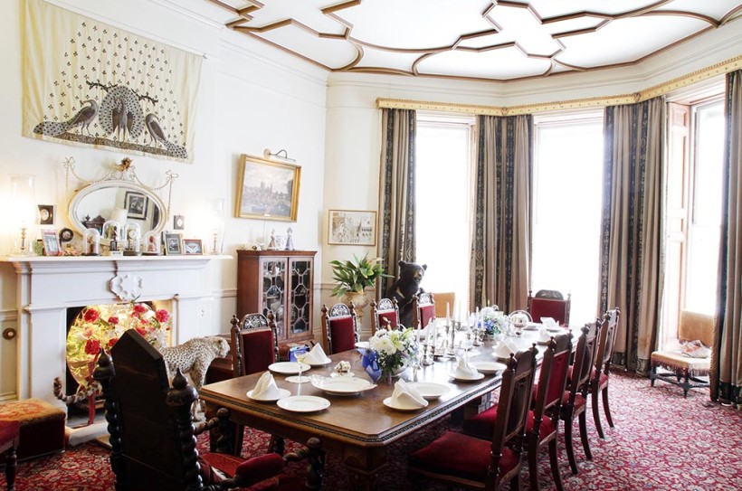The private Dining Room at Burton Court is shown during a guided tour of historic Burton Court