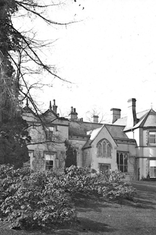 This archive photograph shows how Burton Court use to look like before 1912. The original entrance use to go directly into the main room, the 14th Century Great Hall.